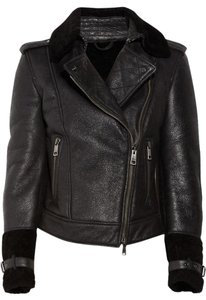 Burberry Biker Shearling Moto Leather Motorcycle Jacket