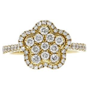 Other 18k Yellow Gold and Diamond Star Ring Size 7