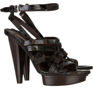 Calvin Klein Collection Tory Burch Michael Kors Brown Bronze Platforms