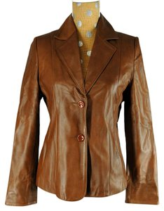 Dolce&Gabbana Leather Brown Leather Jacket