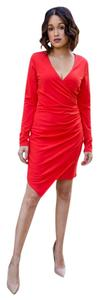 adelyn rae short dress orange Asymmetrical Wrap on Tradesy