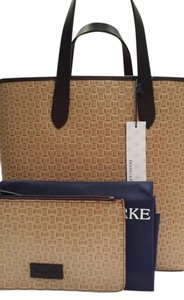 Dooney & Bourke Tote/shopper Woven Leather Lined Lilliana Crossbody Tote in Natural
