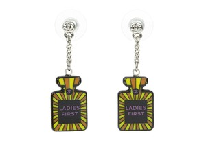 Chanel 15S Multi-colored Resin Ladies First Perfume Bottle Dangle Earrings