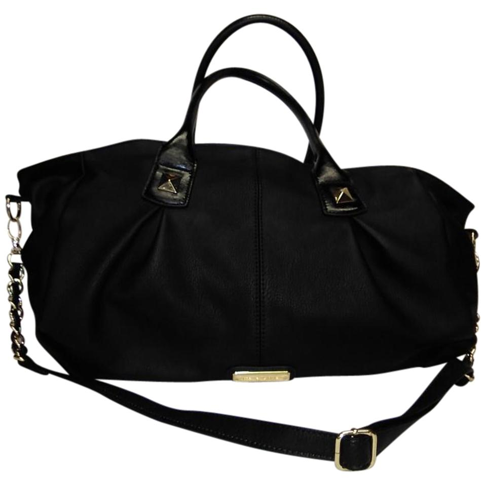 8a85e3a663a Steve Madden Duffle XL Stachel. Black Faux Leather Weekend/Travel Bag 45%  off retail