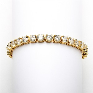 Mariell Glamorous 14k Gold Plated Bridal Or Prom Tennis Bracelet In Petite Size 4127b-g-6