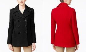 Calvin Klein Winter Fall Wool Blend Pea Coat