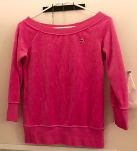 Lacoste Crewneck Velour Sweater