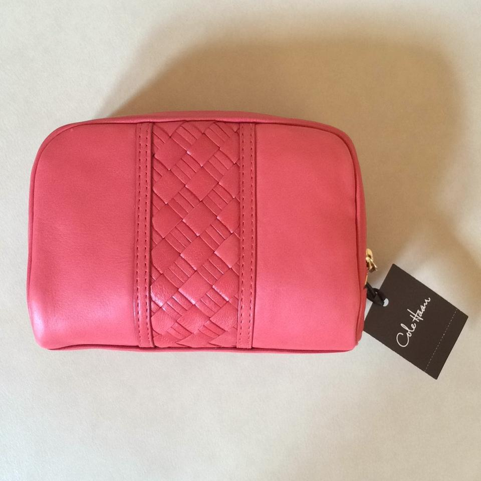 20345b4e308 Cole Haan Poppy Pink Heritage Weave Cosmetic Bag - Tradesy