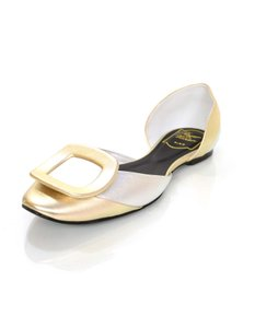 Roger Vivier Leather D'orsay Flats