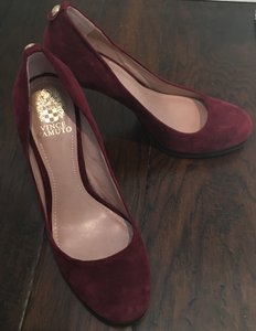 Vince Camuto Suede Oxblood Pumps
