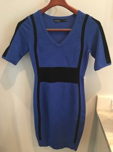Karen Millen short dress Blue Color Block on Tradesy