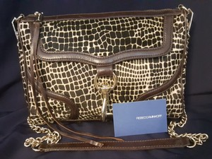 Rebecca Minkoff Leather Calfskin Giraffe Print Shoulder Bag