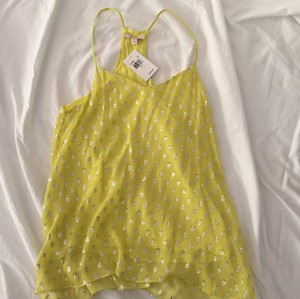 Ella Moss Top Yellow and silver