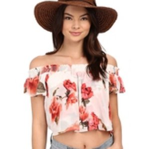 Show Me Your Mumu Top Romantic Rose