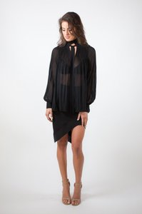 Endless Rose See Through Top black
