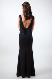 Backless Black Gown Dress