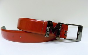 Moschino MOSCHINO JEANS Red Hip Buckle Belt Authentic Size Small