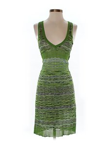M Missoni short dress Green Chevron Herringbone Striped on Tradesy