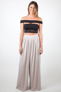 Do & Be Trouser Wide Leg Pants Grey