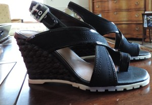 Donald J. Pliner Wedge Sandal Black Sandals