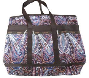 LeSportsac New Without Paisley Tote And Pouch Zipper Close Keys Multi Travel Bag