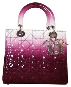 Dior Lady Tote in Gradient purple and white
