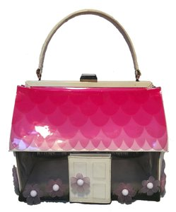 Moschino Vintage House Handbag Rare Vintage Patent Leather Tote in multi