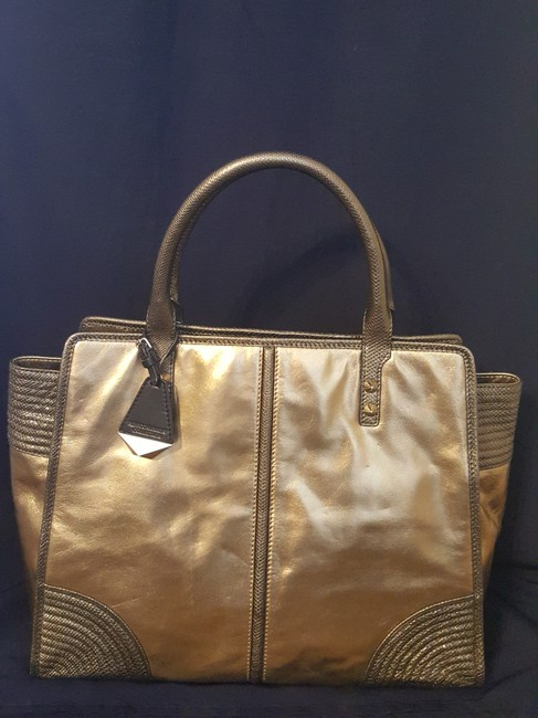 Item - Sienna Gold/ Copper Leather Tote
