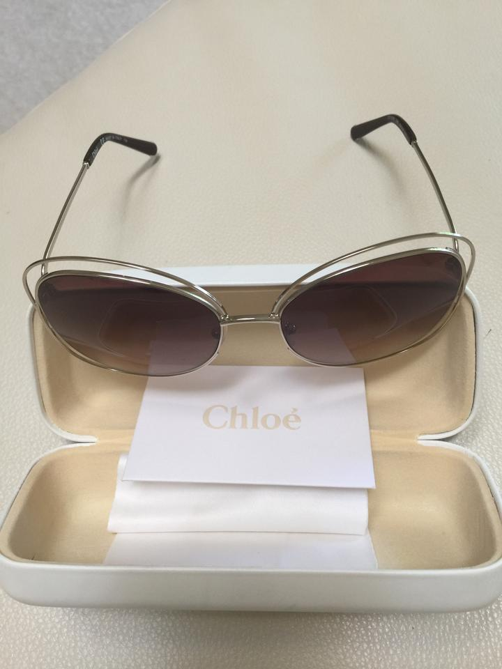 5513ffa468d Chloé Brown   Gold Carlina 60mm Oversized Round Sunglasses - Tradesy