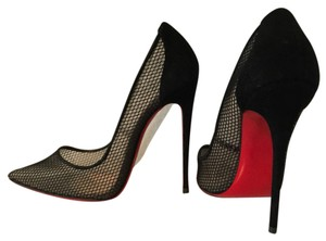 Christian Louboutin Follies Resille pumps 39.5 fishnet limited edition! 120mm Black Pumps