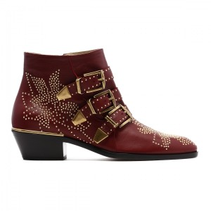 Chloé Chloe Leather Oxblood Boots