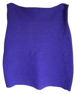BCBGMAXAZRIA Bandage Pencil Mini Skirt Purple