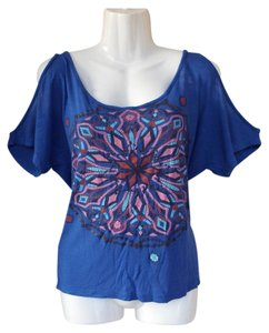 Other Colorful Mandala Cold Trendy Boho Top blue, pink