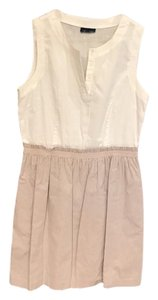 Max and Cleo short dress White / beige with white pinstripes on Tradesy