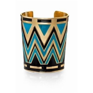 House of Harlow 1960 14K Gold Plated Tribal Cuff