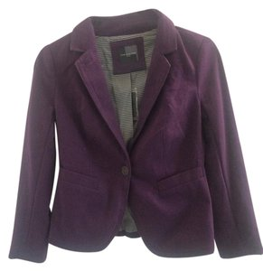 The Limited NWT The Limited Plum Purple Madison Blazer Suit XS Striped Gray