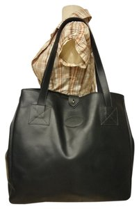 Levenger Vintage Leather Tote in dark green