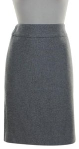 J.Crew Pencil Wool Skirt Gray