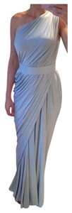 White Runway Grecian Godess One Shoulder Dress