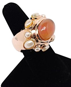 Jennifer Miller Jewelry Jennifer Miller Jewelry Rose Gold Finish Ring w/Tourmaline + Pearls