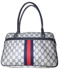 Gucci Xl Style Satchel in shades of blue in large G logo