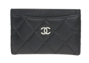 Chanel Black Lambskin Card Case