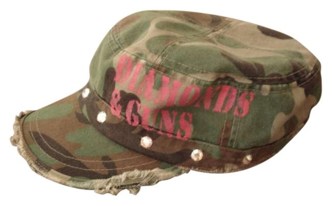 Item - Camo W/ Pink Logo Diamonds & Guns Hat