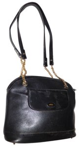 Bally Bucket Satchel in black leather
