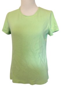 Croft & Barrow Crewneck Sleeve T Shirt lime green