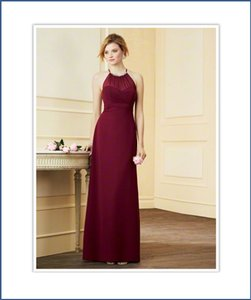 Alfred Angelo Berry High Halter Neckline Chiffon Bridesmaid Dress Style 7290l Dress