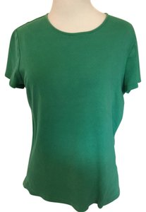 Croft & Barrow Crewneck Sleeve T Shirt Green