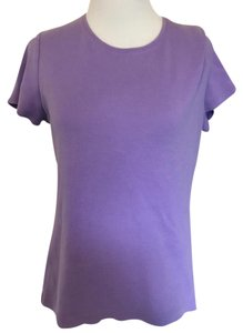 Croft & Barrow Crew Neck Sleeve T Shirt Purple