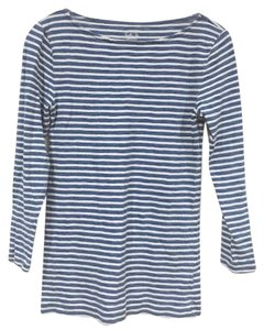 J.Crew T Shirt Blue, White