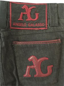 Angelo Galasso Exclusive Jeans Straight Leg Jeans-Dark Rinse